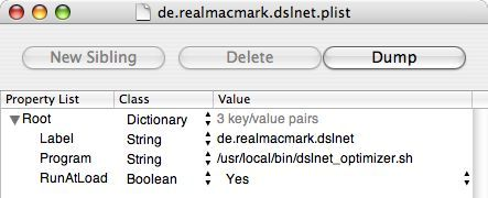DSLnet.plist XML in Property List Editor